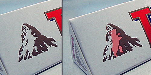 The hidden bear in the Toblerone logo