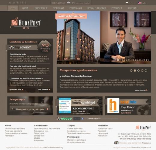 Хотел БудаПеща: Начална страница