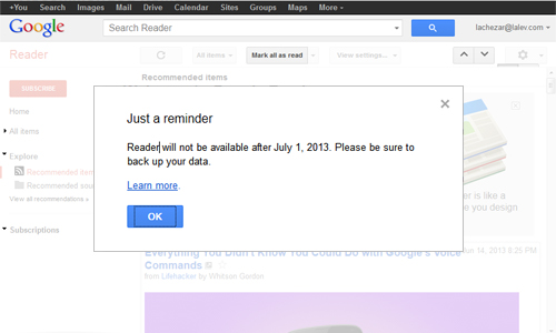Google Kills Reader