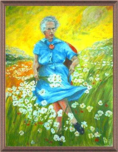 'Люси в небесата' с цветя