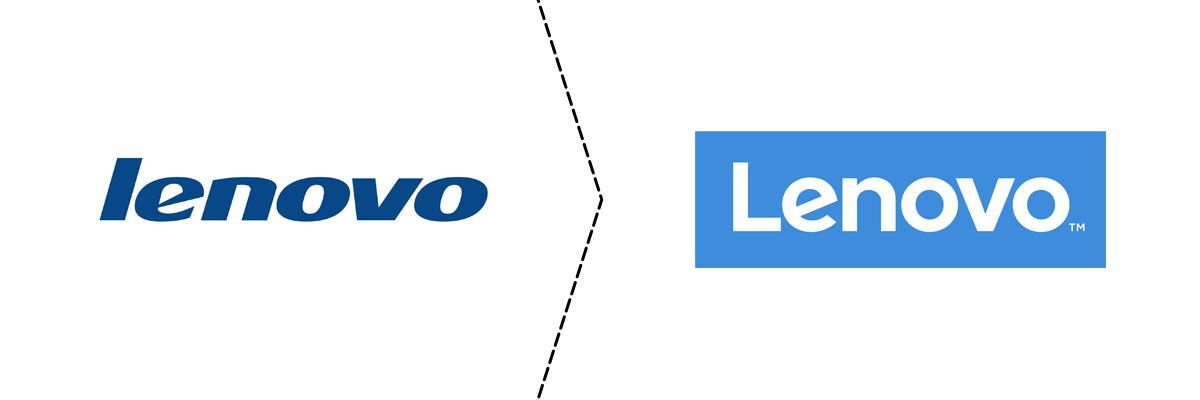 Old and new Lenovo logo