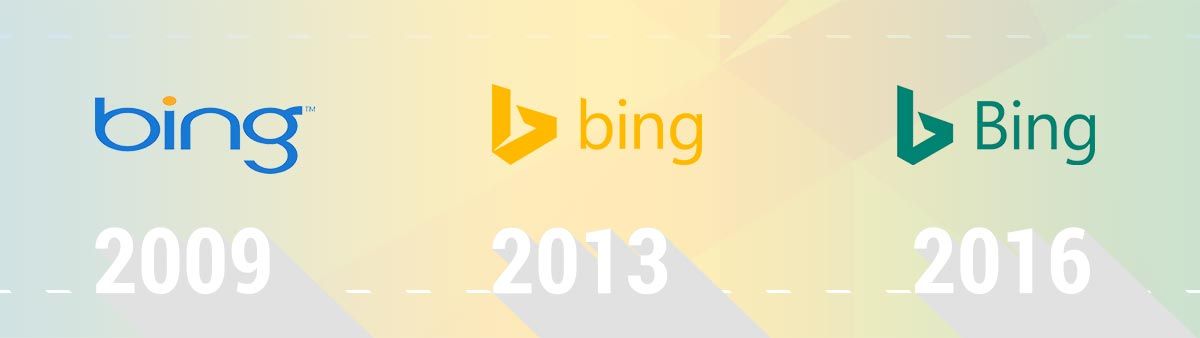 Microsoft Bing Logo Evolution